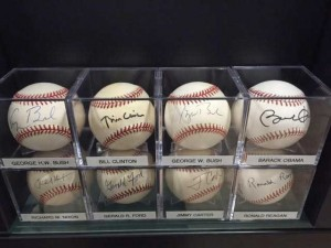 Randy is the only signed baseball collector who solely seeks world leaders