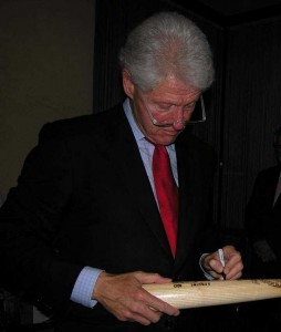 Randy has recently branched out into signed bats - Bill Clinton was his first success