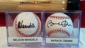 Nelson Mandela and Barack Obama's signed balls are among the standout items