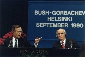 Randy's chance meeting with George HW Bush inspired the collection, which includes a Gorbachev-signed ball